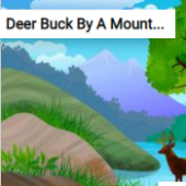 Deer Buck By A Mountain Lake Jigsaw Puzzle Game