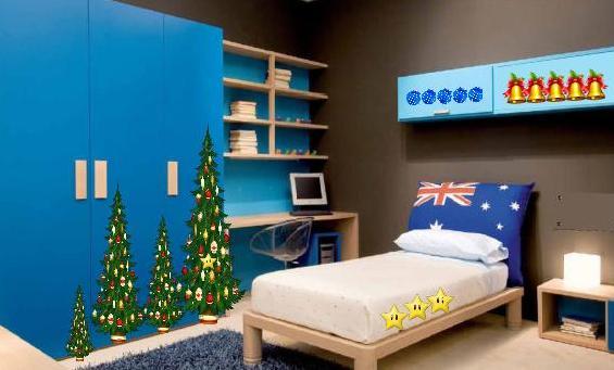 8b Christmas Blue House Escape