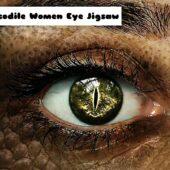 8B Crocodile Women Eye Jigsaw