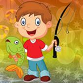 G4K Gleeful Fishing Boy Escape