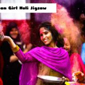 8B Indian Girl Holi Jigsaw