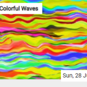Colorful Waves Jigsaw