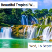 Beautiful Tropical Waterfall Jigsaw