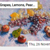 Grapes, Lemons, Pears, And Apples Jigsaw