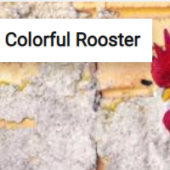 Colorful Rooster Jigsaw Puzzle Game