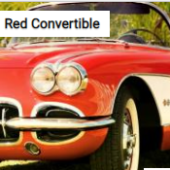 Red Convertible Jigsaw Puzzle Game