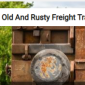 Old And Rusty Freight Train Car Jigsaw Puzzle Game