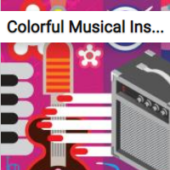 Colorful Musical Instruments Jigsaw Puzzle Game