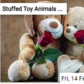 Stuffed Toy Animals With Roses Jigsaw