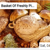 Basket Of Freshly Picked Mushrooms Jigsaw