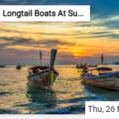 Longtail Boats At Sunset Jigsaw